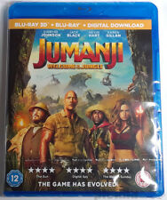 JUMANJI: Welcome To The Jungle Brand New 3D (and 2D) BLU-RAY Movie 2017 Film
