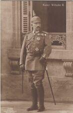 AK Kaiser Wilhelm II König v Preußen m Uniform u Orden i Hauptquartier Pleß 1916
