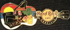 Hard Rock Cafe HONOLULU 2005 PIN BAGS & DRINK on BEACH GUITAR PIN - HRC #35653