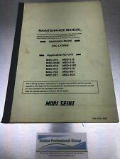Mori Seiki Maintenance Manual For Cnc Lathes Mm Cenl B9e