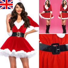 UK Mrs Santa Claus Christmas Fancy Tutu Dress Xmas Womens Adults Costume Outfit