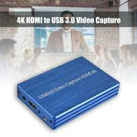 4K to USB 3.0 Video Capture Card Dongle 1080P 60fps FHD Video Recorder Kit