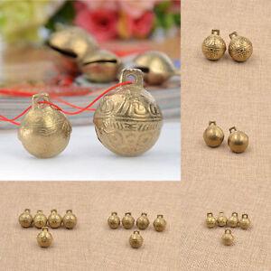 Brass Carved Tiger Bell DIY Fengshui Bracelet Pendant Handmade Craft Gift New