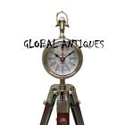 Nautical Clock Vintage Style Table Clock Antique Analog Floor Clock Tripod Stand