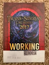 Trans-Siberian Orchestra Backstage Pass 2017