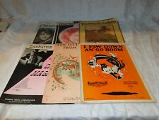 Vintage Lot of 6 Sheet Music Folders, All Titles Shown in the Pictures