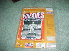 1992 Babe Ruth New York Yankees Baseball Wheaties Cereal Box