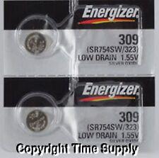 2 pcs 309 Energizer Watch Batteries SR754SW SR754 * ON SALE *