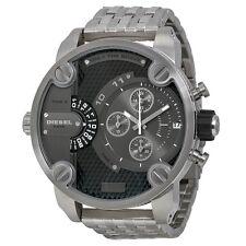 NEUF DIESEL DZ7259 homme Baby Daddy Chronographe silver watch