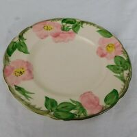 """Hand Painted Franciscan USA Desert Rose Pottery 8"""" Salad Plate Interpace"""