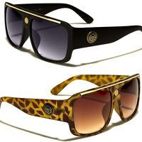 Kleo Square Frame Rapper Celebrity Hip Hop Glasses Gold Vintage Men Sunglasses
