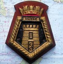"HMS DANAE Royal Navy Ship Heavy Metal Tampion Plaque Crest 8""X6"" Approx 1.5lb"