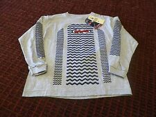 Long Sleeve Crew Neck T-Shirt Lee Pipes Gray Boy's Medium
