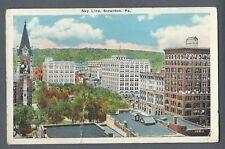 Vintage Postcard Sky Line, Scranton, Pa.