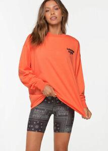 Lorna Jane Take Care Oversized Long Sleeve Top Oversized Tee Shirt Jersey XS-L