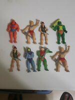 Lot Of 8 He Man MOTU Rubber Erasers Skeletor Master Of The Universe Figures 80's