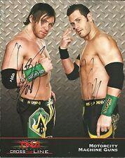 m799  Motor City Machine Guns  signed 8x10 TNA Promo w/COA  **BONUS**
