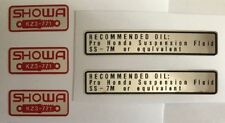 HONDA CR250 CR250R FRONT FORK SHOWA CAUTION WARNING LABEL DECALS X 5