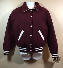 Women's Holloway Varsity Jacket Size Medium NWT Burgundy