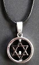 Halskette Kette Anhänger Pentagramm, Schutz Schild, Hexen Zauber Esoterik Symbol