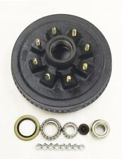 """One 12"""" X 2"""" Trailer Brake Hub Drum Kit 8 on 6.5"""" BC for 7000 lbs axle - 22004K"""