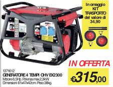 GENERATORE DI CORRENTE GRUPPO ELETTROGENO 4 TEMPI EX2300 VALEX OHV 6,5 HP