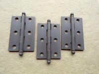 """3 Small Hinge Cabinet Door Oil Rubbed Bronze Ball Tip 3"""" x 2"""""""