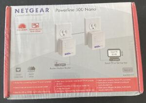 NetGear Powerline 500 Nano Adapter, Model XAVB5101, 500 Mbps, Factory Sealed