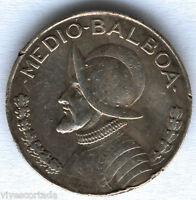 Panama Medio Balboa 1947 plata @ Muy Bella @