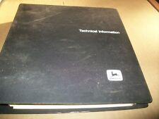 original,JOHN DEERE plow planter service,TECHNICAL  MANUAL,dealer binder