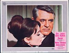 CHARADE original lobby card # 2 AUDREY HEPBURN/CARY GRANT 11x14 movie poster