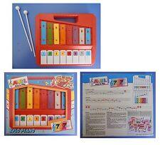 XYLOPIANO Avril Bontempi xilofono pianoforte piano 8 tasti metodo 7 note/colori