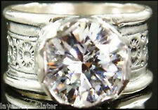Silpada Designs r2208 Sterling Silver Queen for a Day Ring 11mm 5ct CZ sz 7 /7.5