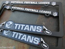 2 Tennessee Titans Black Plastic License Plate Frame