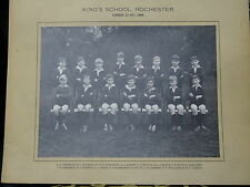 Photograph - Mounted Photo of The Kings School Under 13 Football Team - 1968
