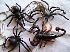 AUSTRALIAN ANIMAL SCORPION & SPIDERS 4 KEYRING COLLECTION Redback Huntsman