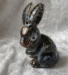 Cute Vintage Enamelled Rabbit