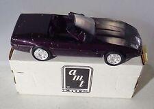 1992 Ertl Corvette Convertible Black Rose Metallic Promo Car New in Box