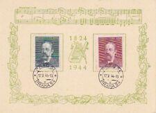 """DR, Böhmen und Mähren 138/39 auf Schmuckkarte ET/FDC 12.5.44 Prag """"Smetana"""""""