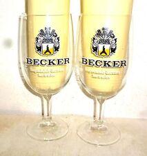 2 Becker +1998 St.Ingbert Hauptbahnhof Saarbrucken German Beer Glasses
