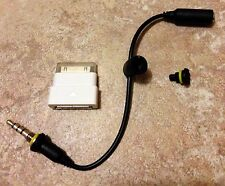 Iphone 4/s LifeProof White Dock Extender,Audio Adapter Cable & Black Plug.