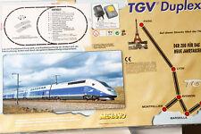 Mehano H0 Ensemble de Train Vtg Duplex 4 Teilig Bleu Argent Courant Continu