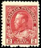 Canada #106 mint F-VF OG NH 1917-1922 King George V 2c carmine Admiral CV$70.00