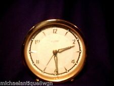 "Vintage German Brass ""Florn"" Travel Desk Clock"