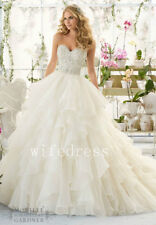 Wedding Dresses Bridal Gowns Beaded Strapless Sleeveless Size 4 6 8 10 12 14 16+