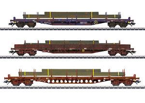 Märklin H0 47160 Flachwagen-Set der CFL Cargo SA - NEU + OVP