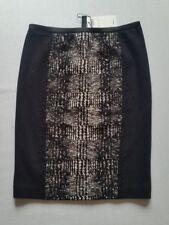 MARC CAIN Rock schwarz weiß Schurwolle/Baumwolle N3--D38**NEU