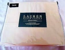 New Ralph Lauren Dunham Sateen 3-Piece Twin Sheet Set Latte