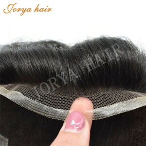 US WAREHOUSE OCT French Lace Mens Toupee Poly Coating Hair System Replacement