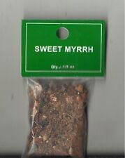 SWEET MYRRH RESIN CHARCOAL INCENSE 1/2 OUNCE BAG
